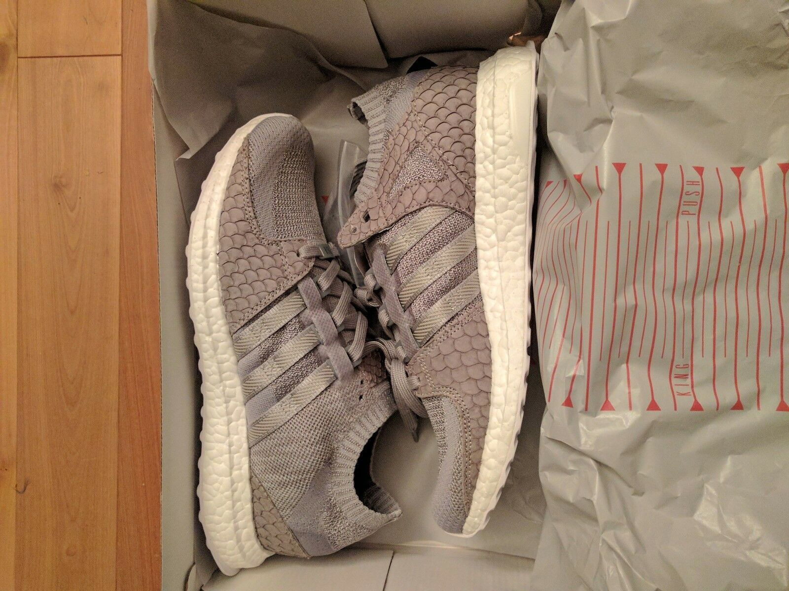 ADIDAS X PUSHA T EQT PRIMEKNIT ULTRA Boost PK KING PUSH - sz 10