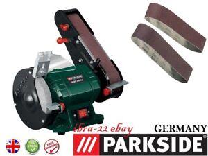 Parkside 240w 2 In 1 Bench Grinder With Belt Sander Psbs