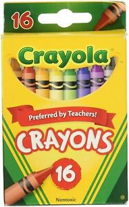 Crayola Crayons 16 Color Peggable, Non-toxic, Wax Crayons in Classic Colors