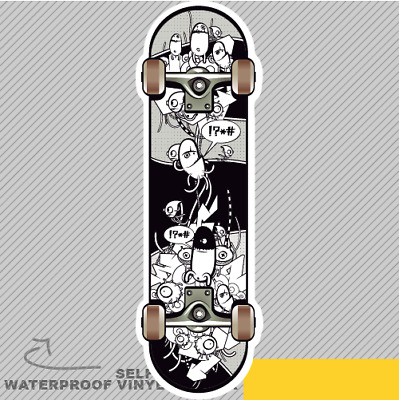 Skateboard Skeleton Gothic Skater1 Vinyl Sticker Decal Window Car Van Bike 1984