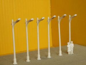 Lampione-led-stradale-12-volt-conf-sei-pezzi-H-cm-7-scala-HO-1-87-Krea