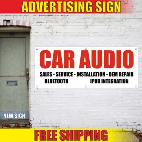 CAR AUDIO Banner Advertising Vinyl Sign Flag sales service installation repair
