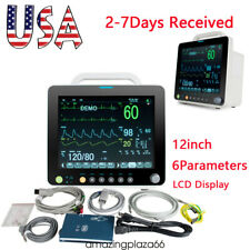 Usa 12 Icu Ccu Vital Signs Patient Monitor Machine 6 Parameters Tft Lcd Durable