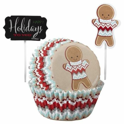 NEW Gingerbread with Sweater Cupcake Combo Pack from Wilton 2607