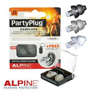 Alpine-Partyplug-Music-tapones-para-los-oidos-acustica-19dB-Blanco-Plata-Negro-Spray-De-Limpieza