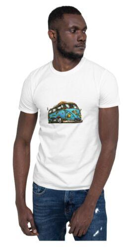 Campervan HIPPY LOVE paix voyageur campeur nature flower power VW V-DUB T-Shirt