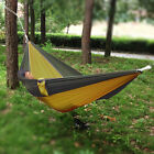 Double Person Hammock Camping Outdoor Portable Travel Nylon Fabric Parachute