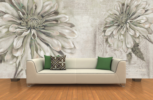 3D Sketch Chrysanthemum Paper Wall Print Wall Decal Wall Deco Indoor Murals