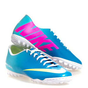 6922750dbf64 Nike Mercurial Victory IV TF Turf Soccer SHOES 2013 Sky Blue   Pink ...