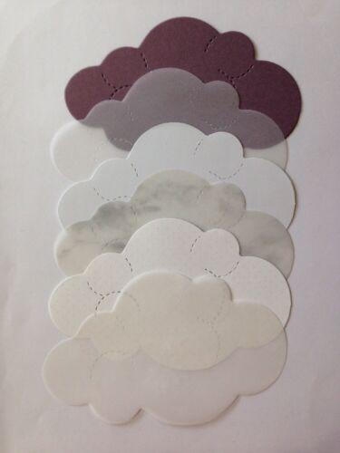 """Aprox .5/""""x 2-1//2/"""" cielo estival * * * día lluvioso otoño invierno Niebla * * Die-recortes en la nube LG 6pc"""