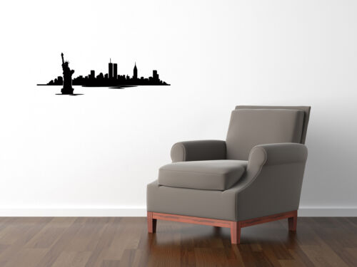 New York Skyline Kitchen Dining Living Bedroom Decal Wall Art Sticker Picture 2