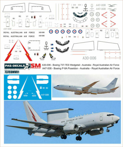 Revell 1:144 PAS-Decals #737CONV01 Boeing 737 Australian Air Force for Zvezda