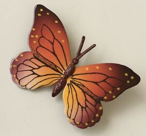 Vintage-Butterfly-Brooch-Pin-enamel-on-Metal