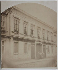 Original 1890s Albumin WIEN, Geschäftsfassade Seifensiederei J. HRESCHICH