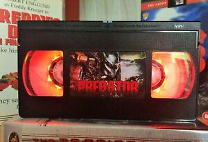 Predator Aliens Desk Lamp, Horror Movie, VHS, Bed Light, Present, Gift, TV