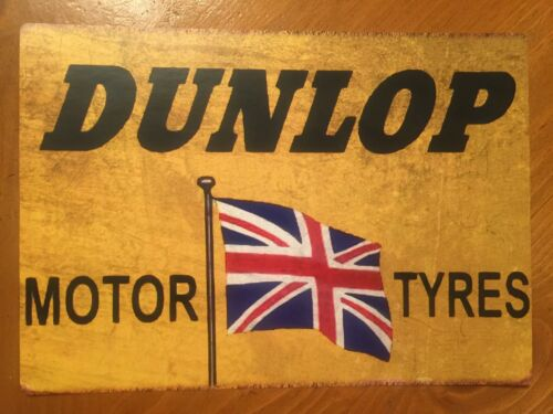 Tin Sign Vintage Dunlop Motor Tyres