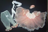 Ballet Pageant Costume Peaches Cream Sequin Ribbons Lace Organdy Tutu