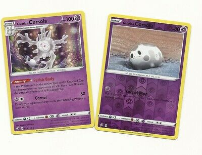 079//192 Galarian CursolaRare Holo Card Pokemon TCG Sword /& Shield Rebel Clash
