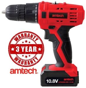 Drill-Cordless-Driver-10-8V-Rechargeable-Li-Ion-Battery-Screwdriver-Amtech-New