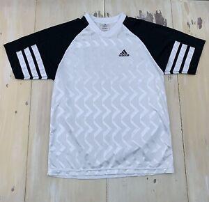 Details about ADIDAS - Vtg 90s White & Black V-neck Soccer Football Jersey Shirt, Mens MEDIUM