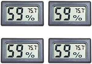 Veanic 4-Pack Mini Digital Electronic Temperature Humidity Meters Gauge Indoor ℉