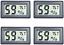thumbnail 1 - Veanic 4-Pack Mini Digital Electronic Temperature Humidity Meters Gauge Indoor ℉