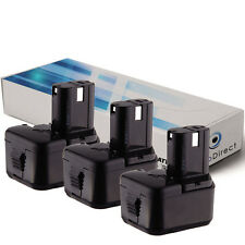 Lot de 3 batteries 12V 2000mAh pour Hitachi DS12DVF3 - Société Française -