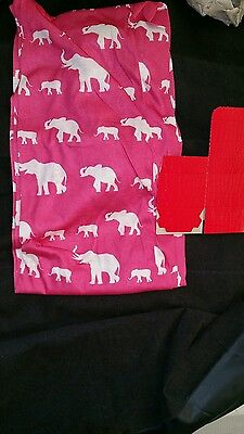 Dark Pink Elephant Infinity Scarf Breast Cancer  Delta Sigma Theta CLEARANCE