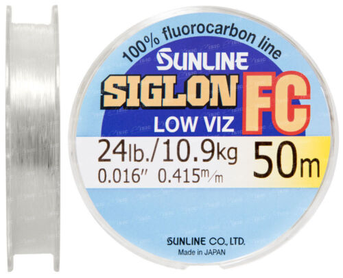 SUNLINE SIGLON FC Fluorocarbon 30m 50m Clear Fishing Line leader low Visible