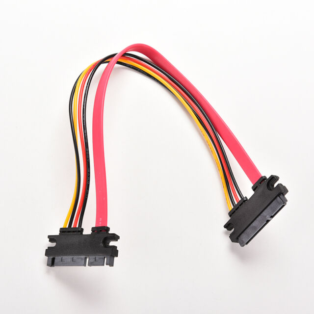 12Inch Male to Female 7+15 Pin SATA Data HDD Power Combo Extend Extension CPLCA