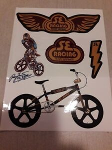 Race Inc Old School Bmx Stickers Decals New GOLD Vintage PK Ripper