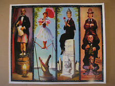 Vintage Disney ( Haunted Mansion stretching Room ) T2 Collector's  Print - B2G1F
