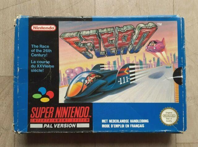 F-Zero Boîte - Nintendo SNES - Boîte + Cartouche - PAL FAH - Etat Correct