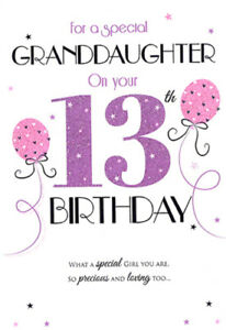 Image Is Loading 13th GRANDDAUGHTER BIRTHDAY CARD AGE 13 QUALITY