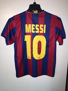 FCB Official Lionel MESSI Jersey Mens Size Small Barcelona Soccer ... 322ded4e0