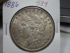 1886 $1 Morgan Silber Dollar # 584