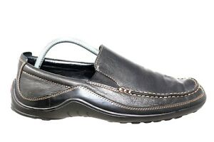 cole haan black leather moc toe casual walking loafer