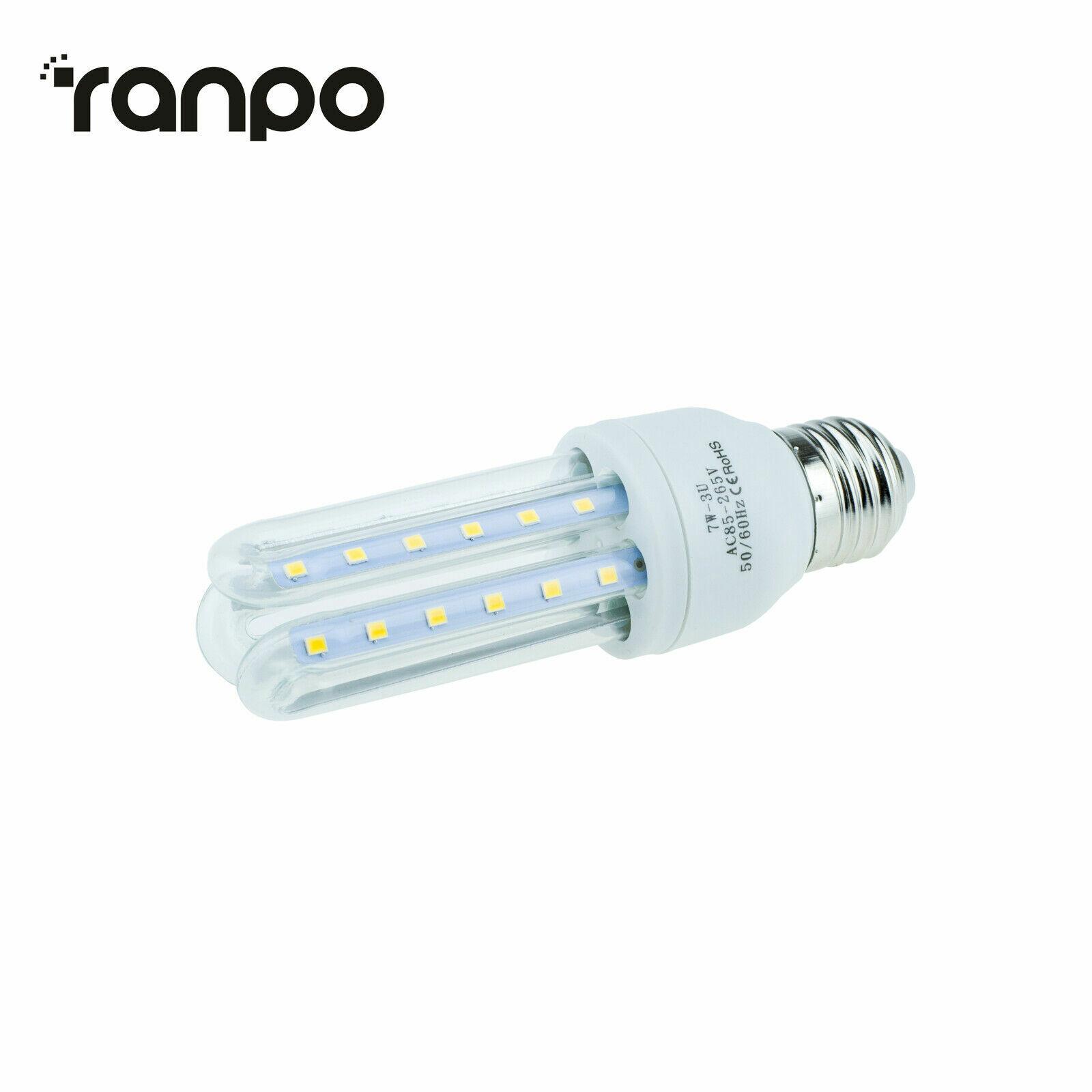 E27 Energy Saving LED Corn Bulb 3W 5W 7W 9W 12W 2835 SMD Light White Home Lamp S