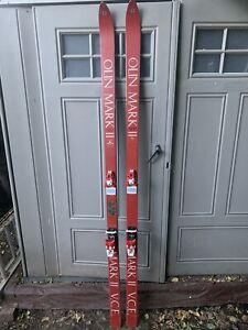 Vintage-Olin-Mark-2-V-C-E-Skis-200cm-1972-Tyrolia-490-Bindings-Rare