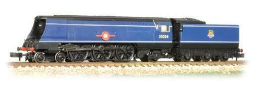 Graham Farish 372-310 Merchant Navy Class 'East Asiatic Company' BR Express blu