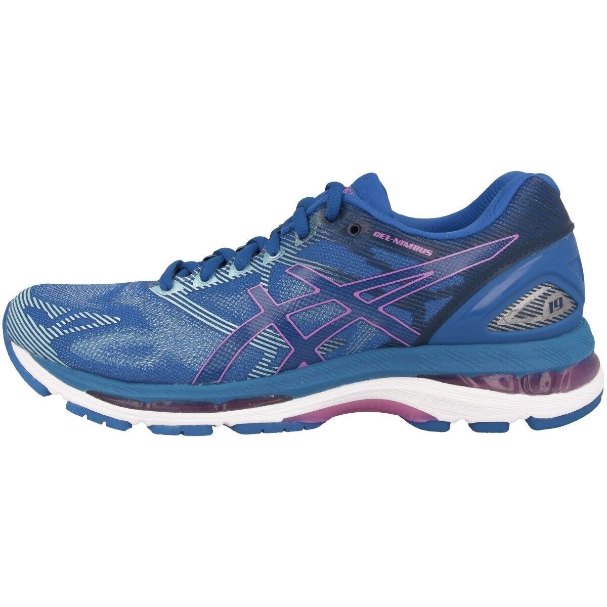 Asics Gel-Nimbus 19 Damens Damen Laufschuhe Blau purple violet Running T750N-4832