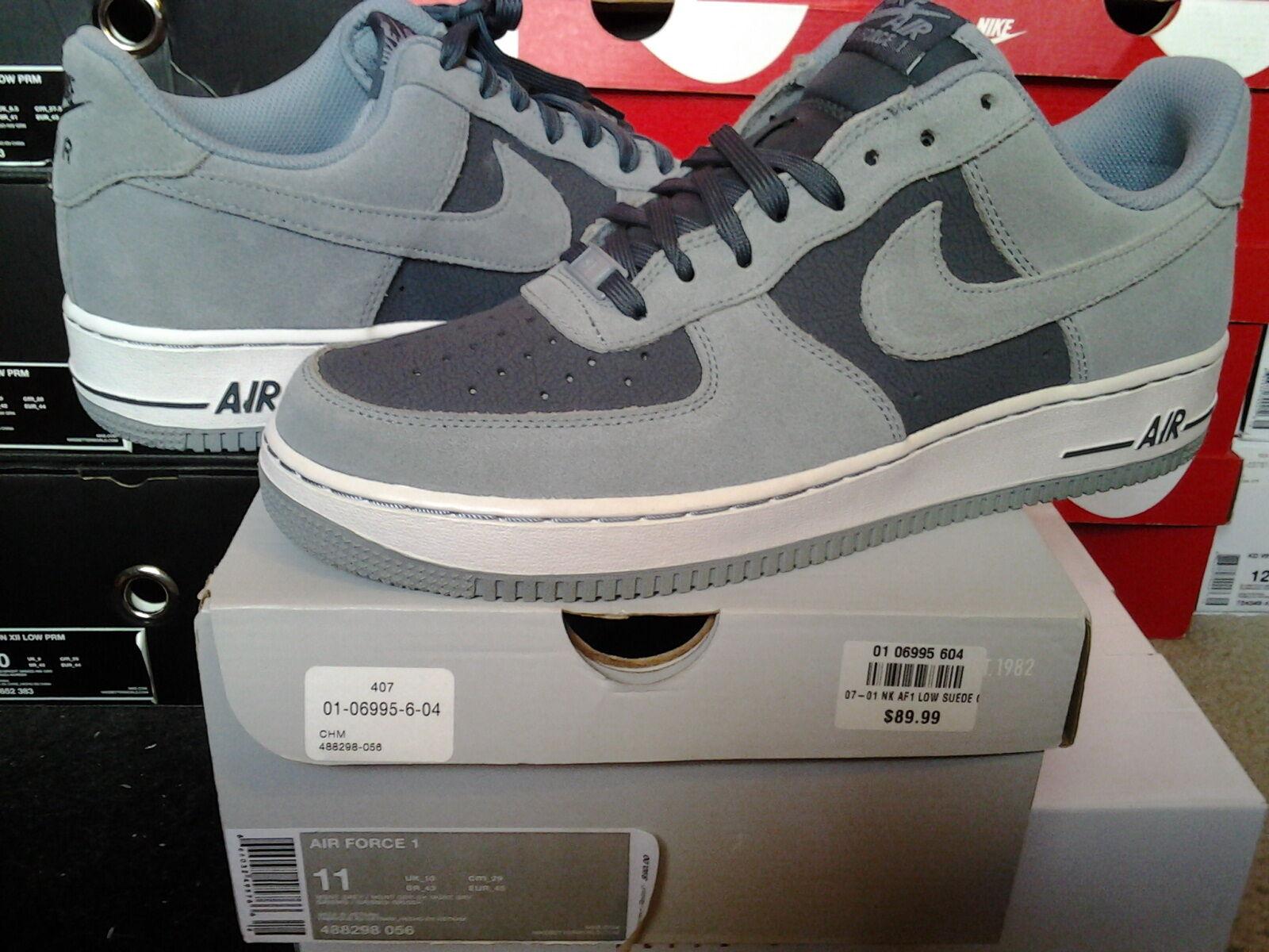 Nike Air Force One 1 Low 07 Dark Magnet Grey White dunk sb mid high I 488298 056