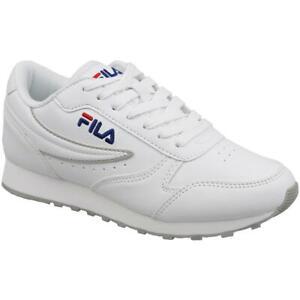Scarpe Donna Bianco Sneaker FILA Orbit Low Ecopelle Allenamento Sportive Fitness