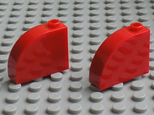 Set 8157 3061 3831 66435 Lego red Brick 1 x 3 x 2 Curved Top ref 33243