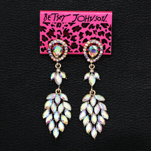 Colorful-AB-Crystal-Rhinestone-Dangle-Earbob-Wedding-Betsey-Johnson-Earrings