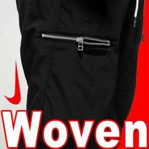 NIKE NSW WOVEN PANTS METAL SIDE ZIP TRACK RUNNING NYLON MODERN STREET LIFE  M