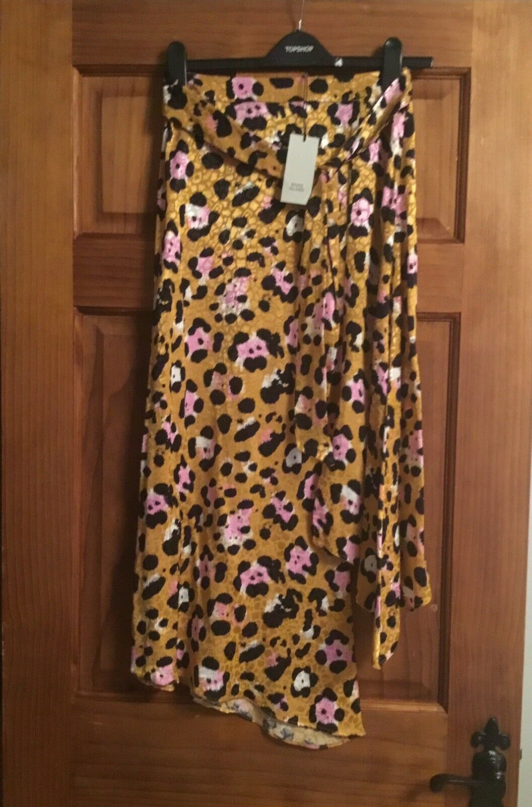 River Island Animal Print Wrap Skirt UK Size 6
