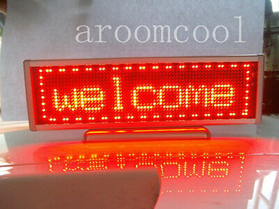 16x64 Display Programmable Message moving scrolling LED Name Badge