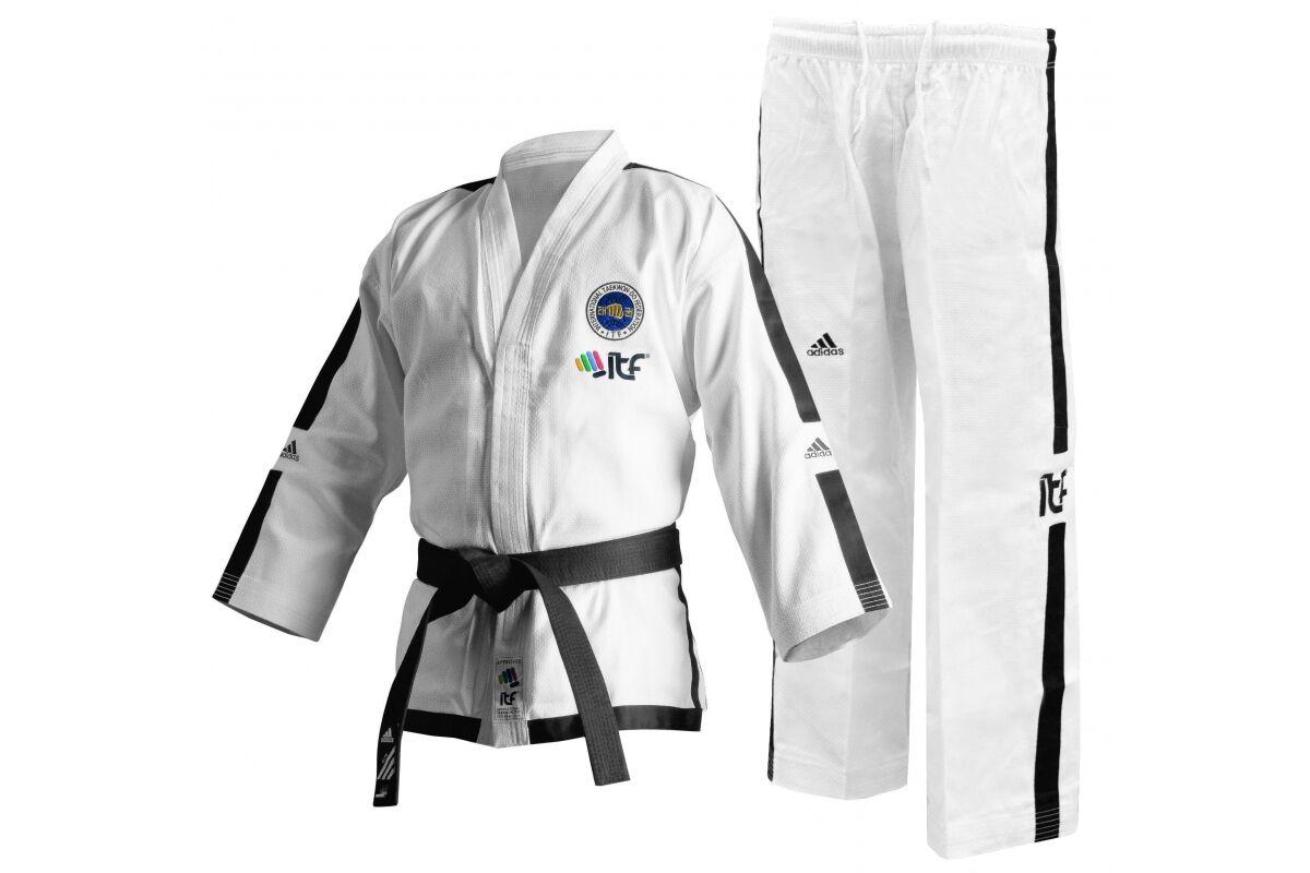 Adidas ITF Master Taekwondo Dobok Adult Suit Mens Womens TDK Dan Uniform White