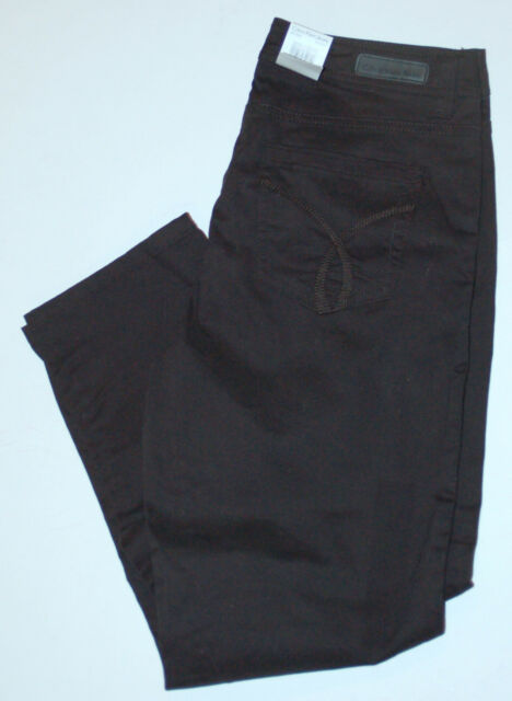 New womens Calvin Klein Jeans Skinny Ankle Crop in Black size 2 Power Stretch
